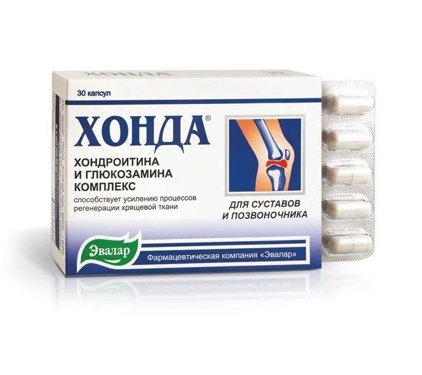 Хонда (глюкозамин и хондроитин), 30 капсул, Эвалар