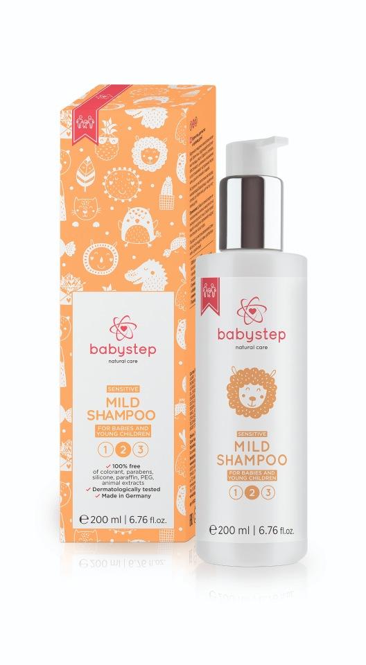 Мягкий шампунь для купания Babystep natural care