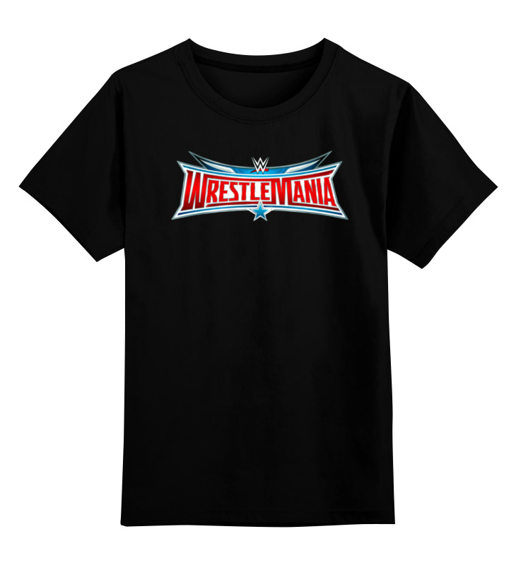 Купить 0000000757771, Детская футболка Printio Wrestlemania цв.черный р.104,
