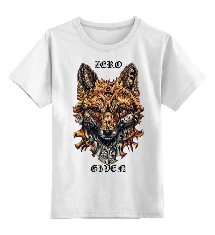 Купить 0000000755431, Детская футболка Printio Zero fox given цв.белый р.104,