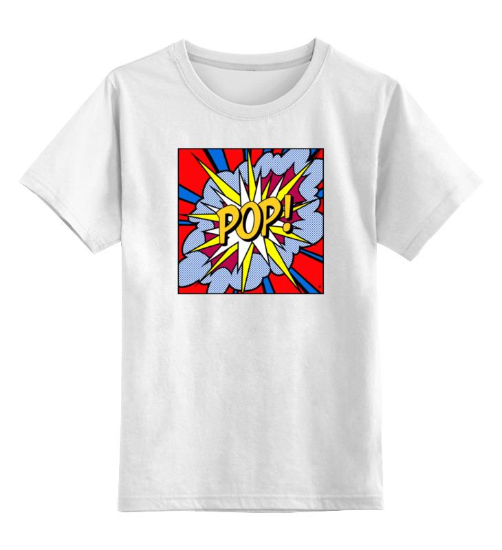 Купить 0000000754729, Детская футболка Printio Pop art цв.белый р.104,