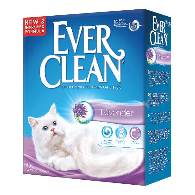 Комкующийся наполнитель для кошек Ever Clean Lavender бентонитовый, лаванда, 10 л фото