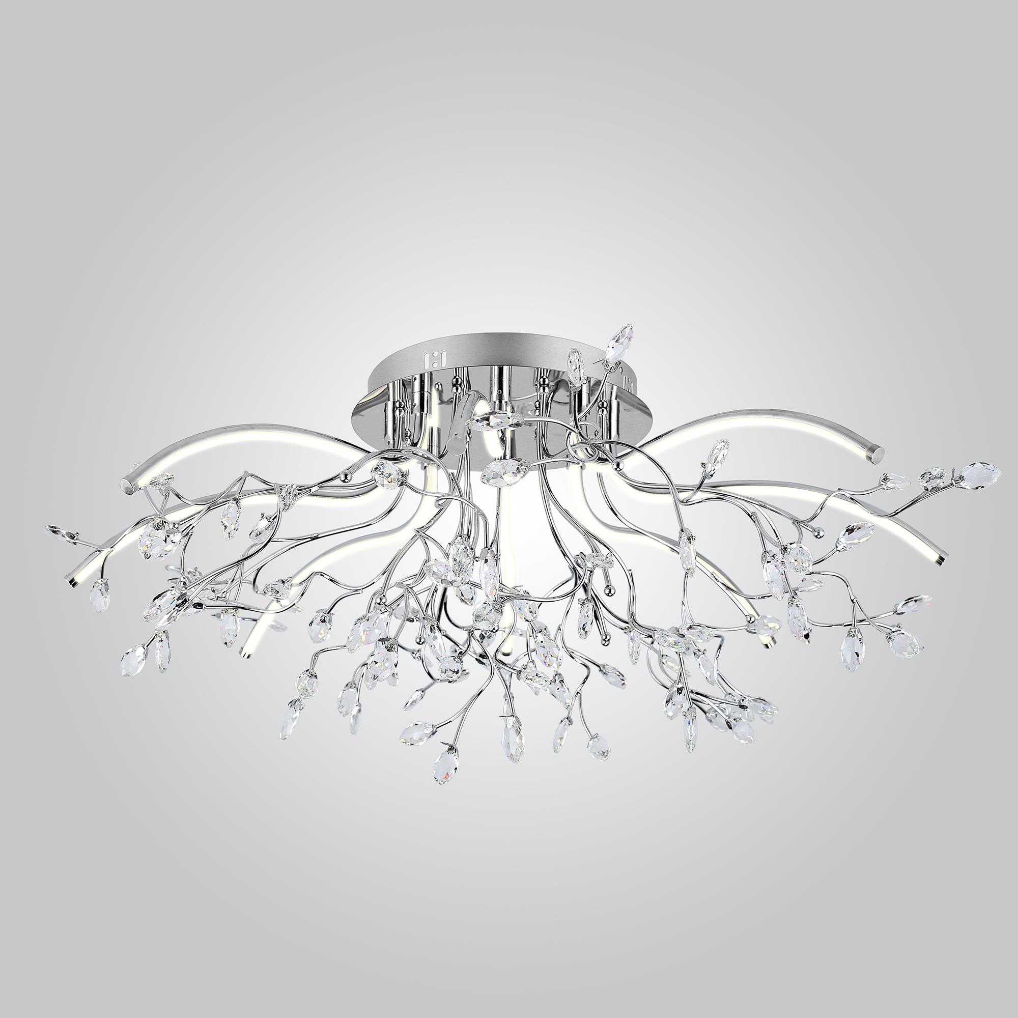 Потолочный светодиодный светильник Eurosvet 90036/8 хром фото