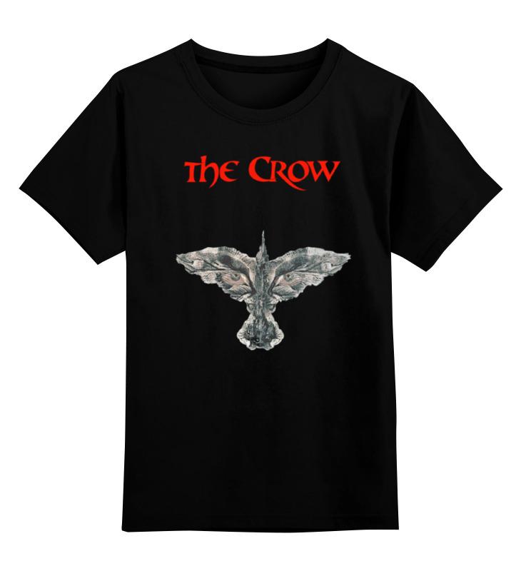 Купить 0000000762970, Детская футболка Printio The crow цв.черный р.116,