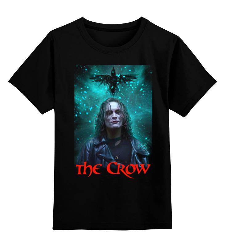 Купить 0000000762960, Детская футболка Printio The crow цв.черный р.116,