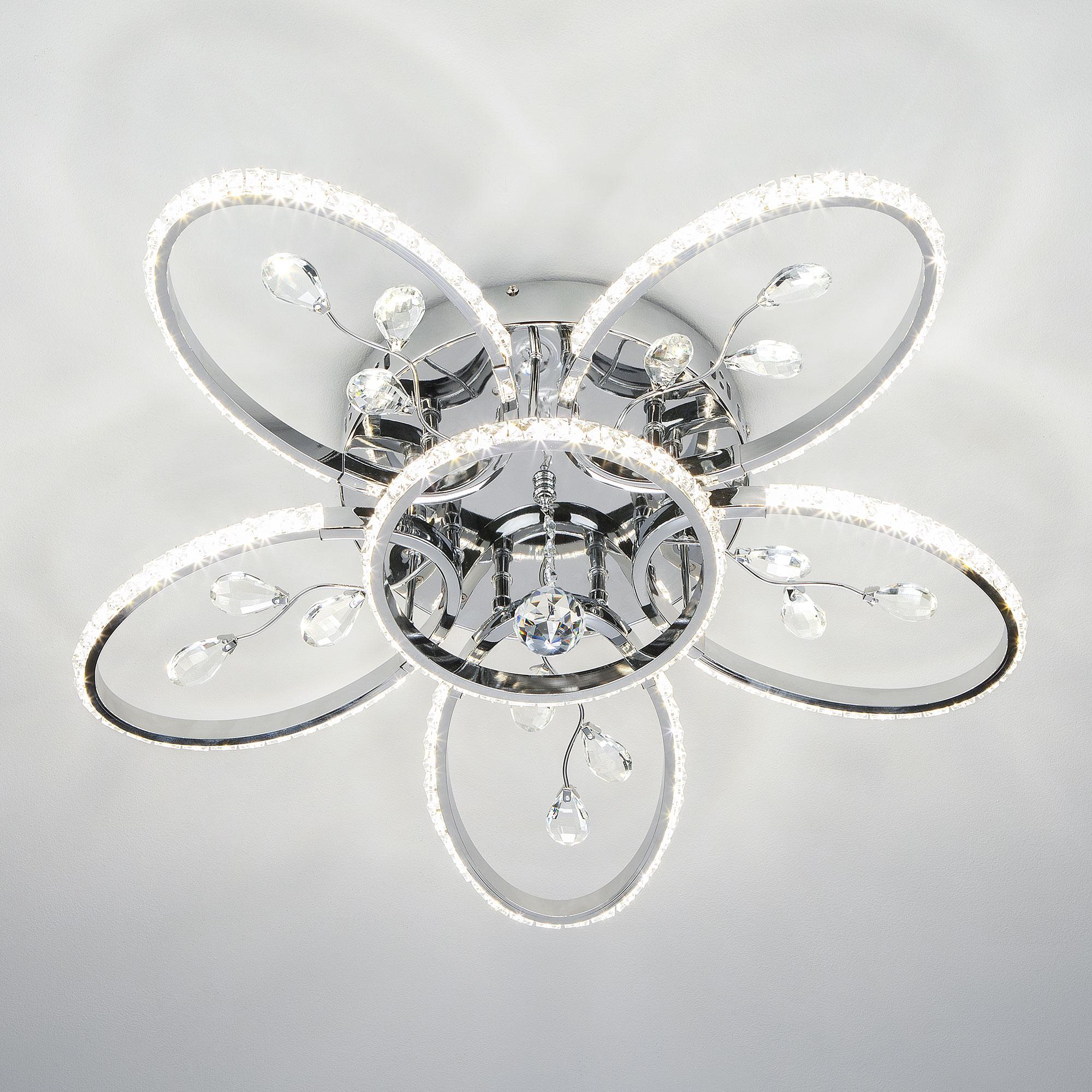 Потолочный светодиодный светильник Eurosvet Soul 90097/6 хром