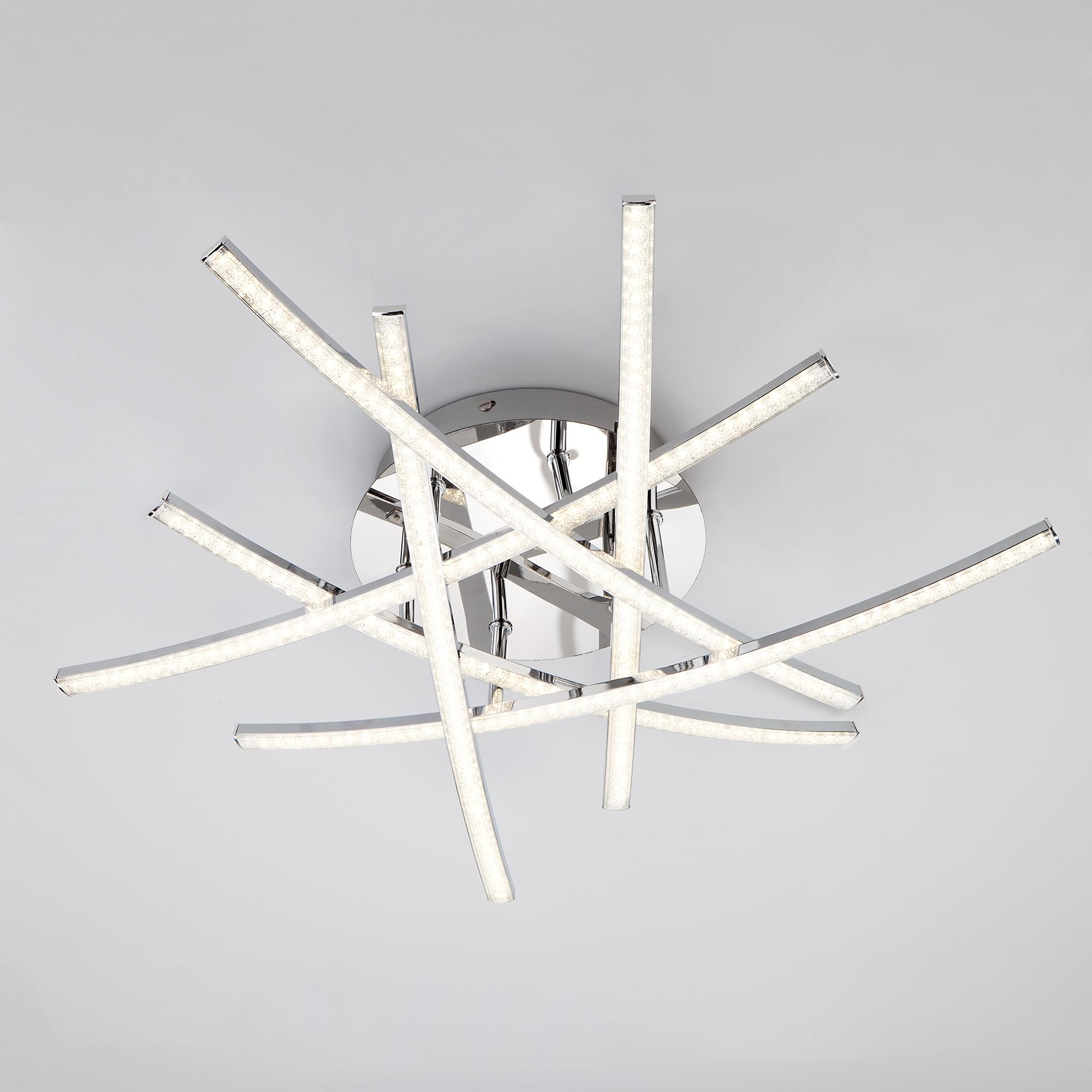 Потолочный светодиодный светильник Eurosvet Showy 90107/6 хром фото