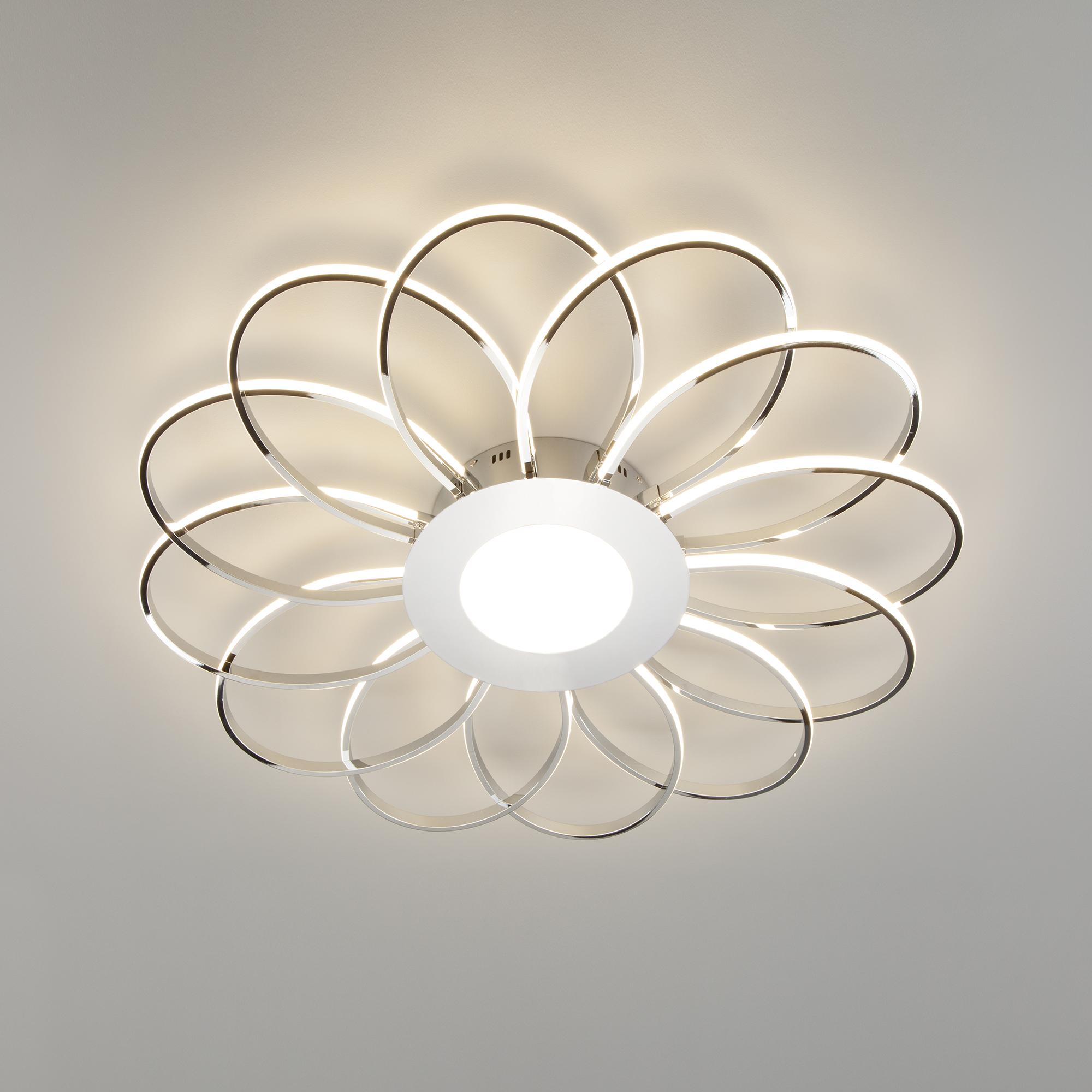 Потолочный светодиодный светильник Eurosvet Jenssen 90105/13 хром фото