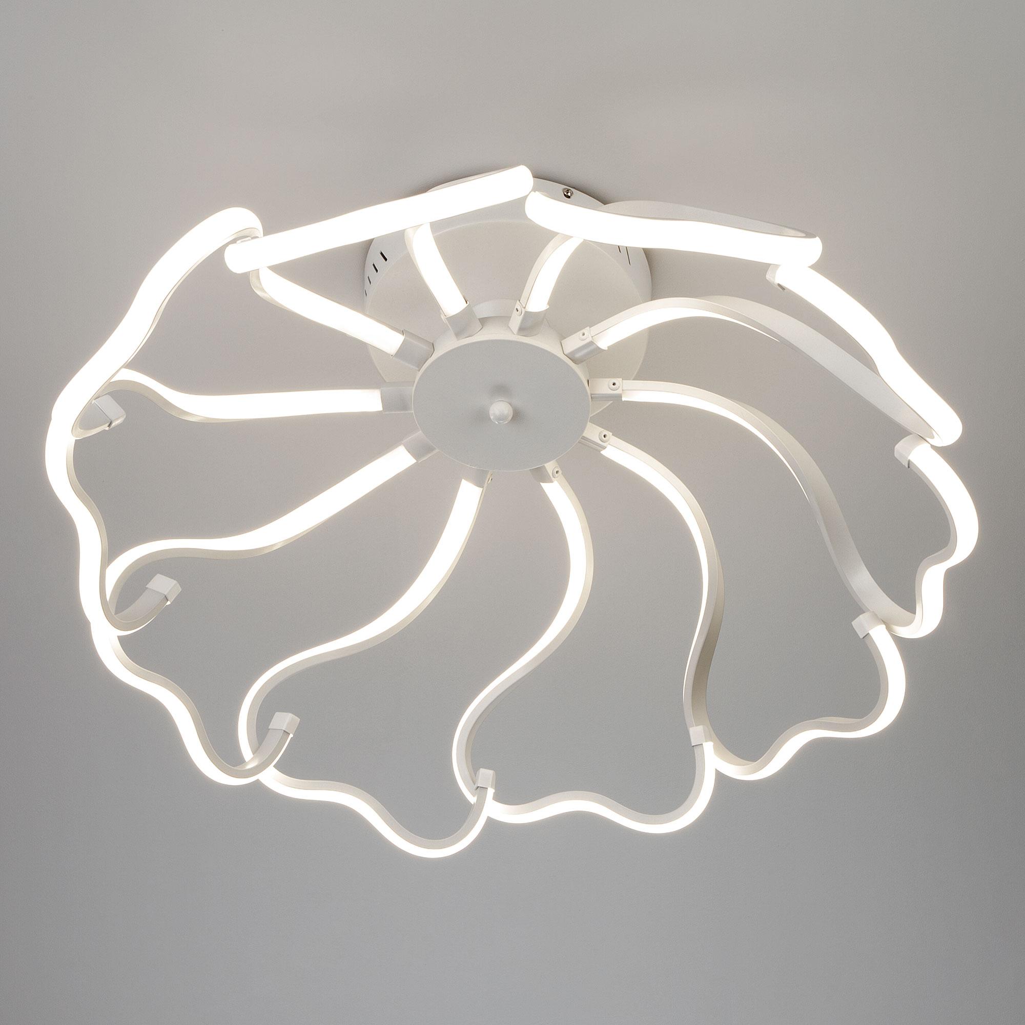 Потолочный светодиодный светильник Eurosvet Begonia 90095/10 белый