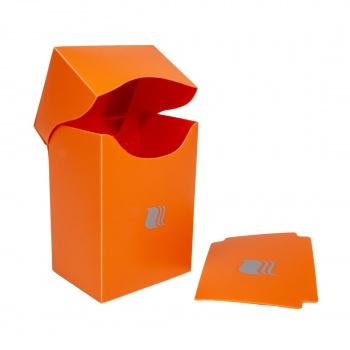 Пластиковая коробочка Blackfire вертикальная оранжевая, 80+ карт
