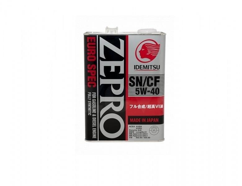 Моторное масло Idemitsu Zepro Euro Spec Sn/Сf 5w-40 4l IDEMITSU арт. 1849041