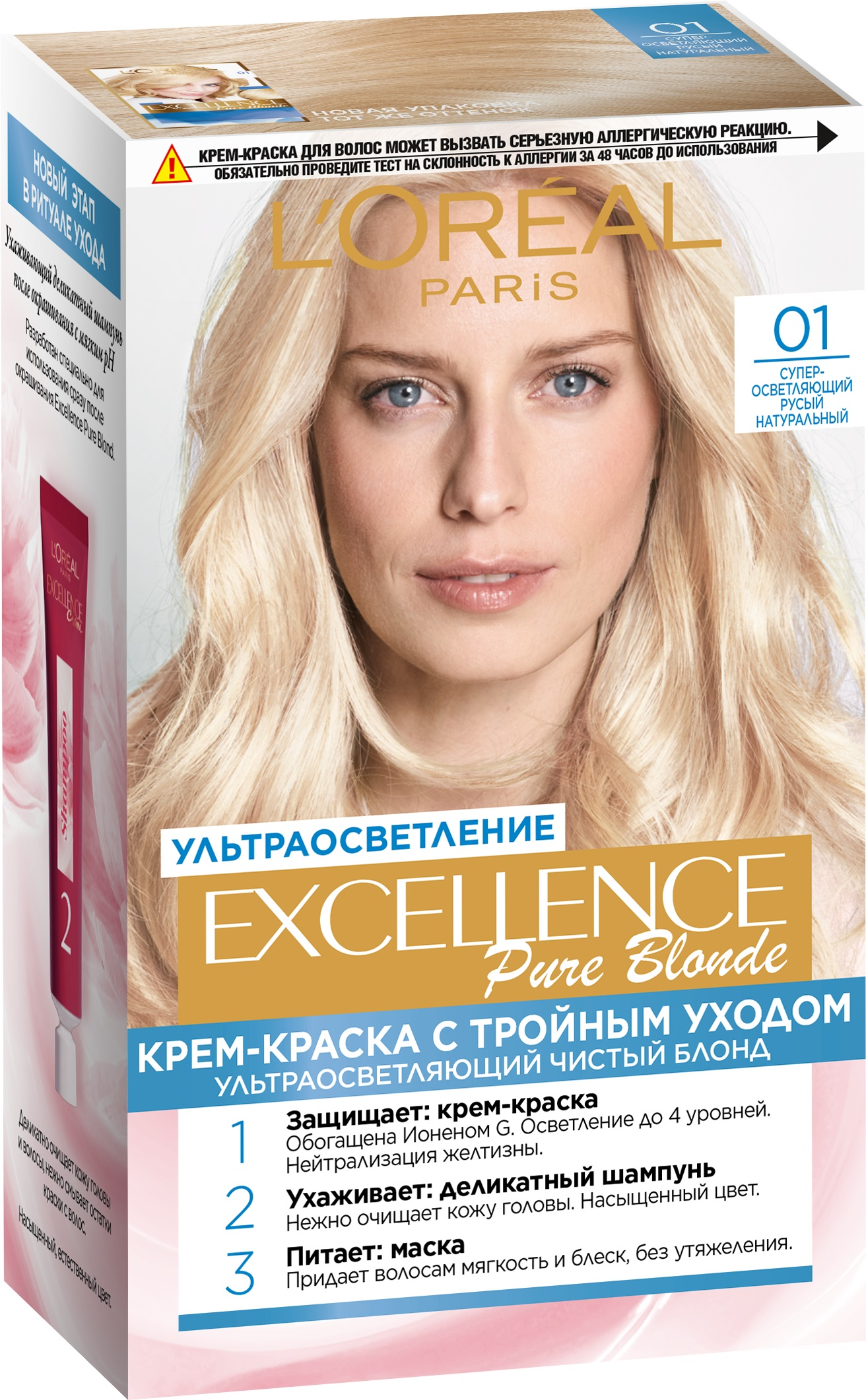 Крем-краска для волос L\'Oreal Excellence тон 01 \