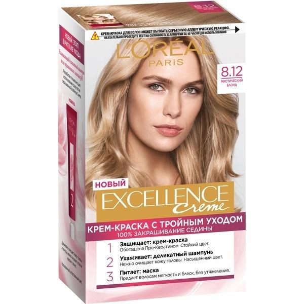 Крем-краска для волос L\'Oreal Excellence стойкая тон 8.12 \