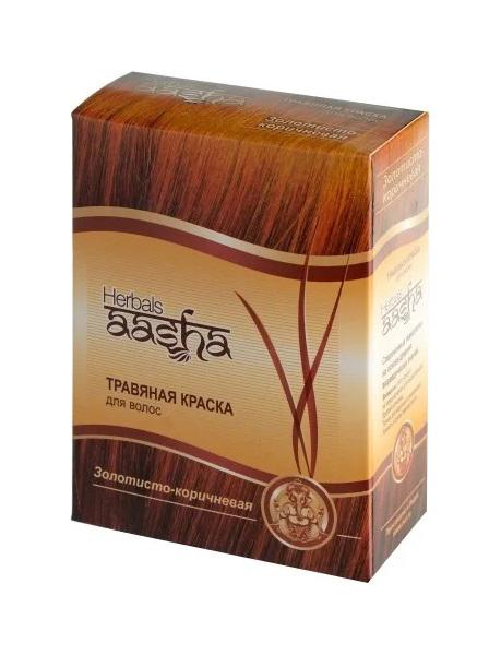 Купить Краска для волос Aasha Herbals Травяная золотисто-коричневый 60 г