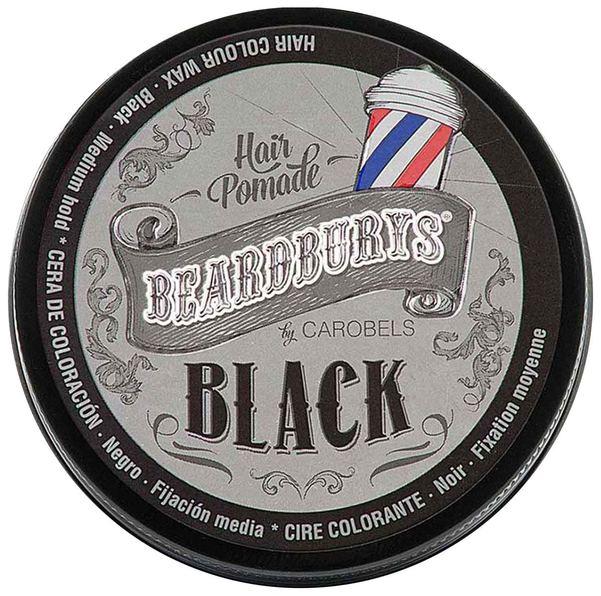 Красящая помада черная BeardBurys Color Hair Pomade
