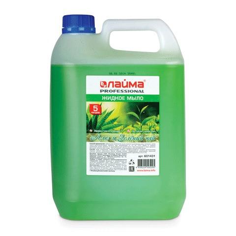Купить Жидкое мыло Лайма PROFESSIONAL, Алоэ и зеленый чай, 5 л, ЛАЙМА