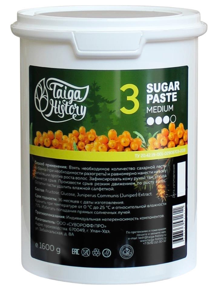 Сахарная паста для депиляции средняя Taiga History,