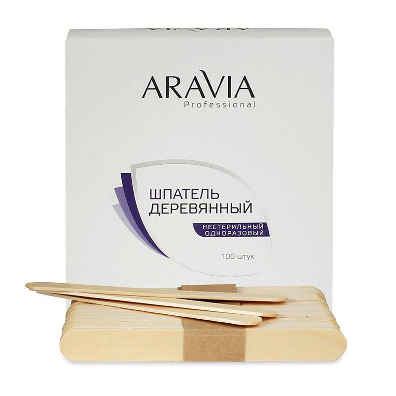 ARAVIA Шпатели Aravia Professional Деревянные Одноразовые,