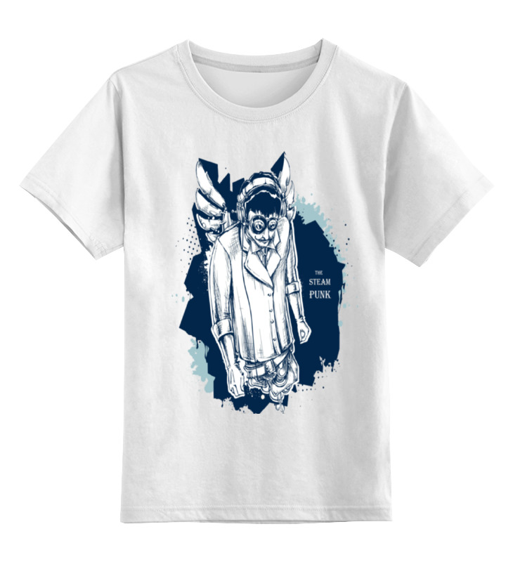 Купить 0000000753433, Детская футболка Printio The steampunk цв.белый р.116,