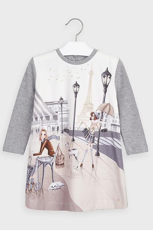 Платье Mayoral 4987 цв.серый р.122 4987/_серый