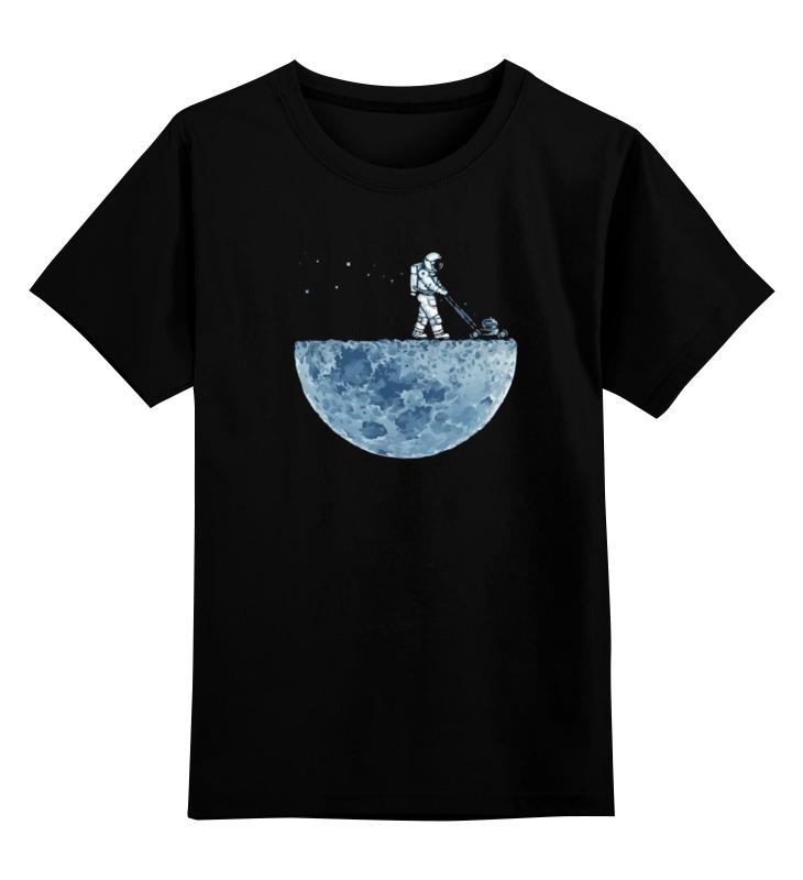 Купить 0000000751109, Детская футболка Printio Лунакосилка цв.черный р.116,