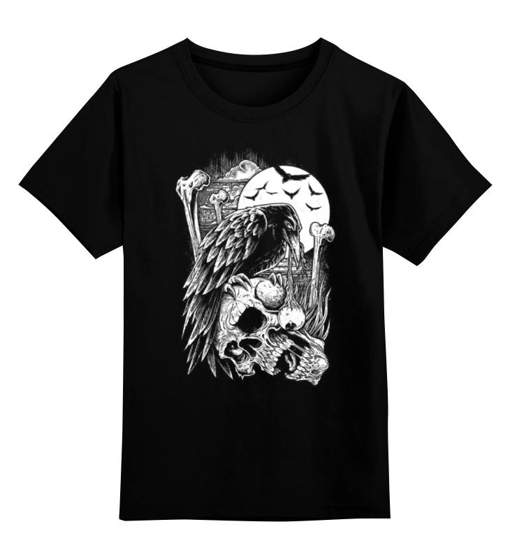 Купить 0000000764505, Детская футболка Printio Art horror цв.черный р.128,