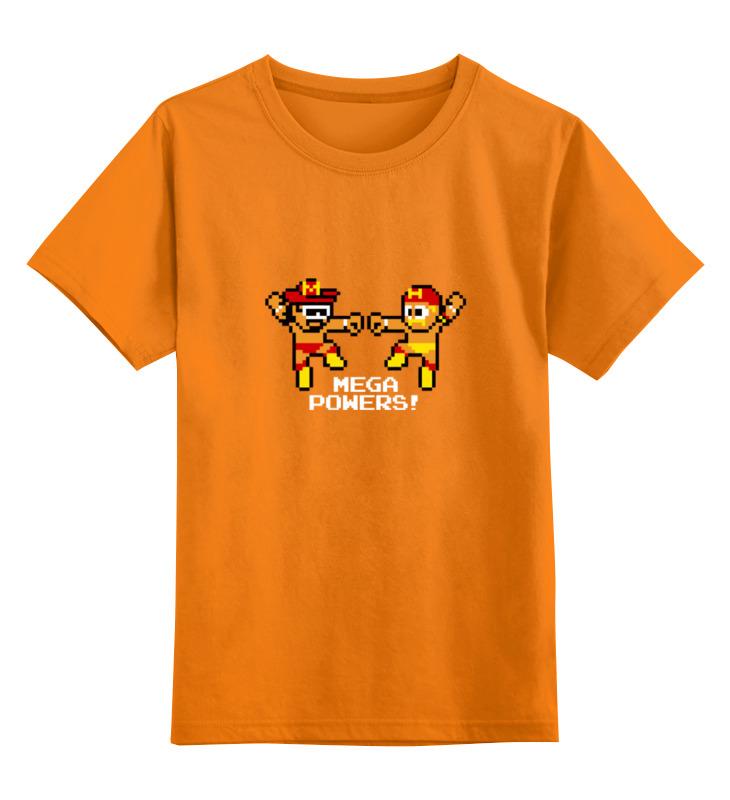 Купить 0000000764357, Детская футболка Printio Hulk hogan x randy savage mega powers цв.оранжевый р.128,