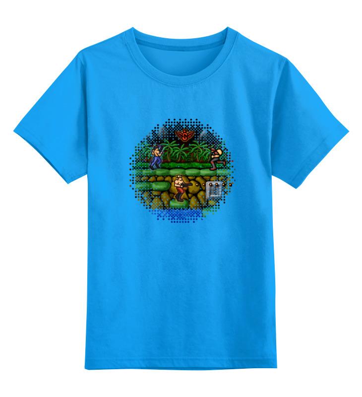 Детская футболка Printio Contra цв.голубой р.128 0000000763184 по цене 990