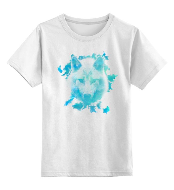 Купить 0000000762869, Детская футболка Printio Белый волк цв.белый р.128,