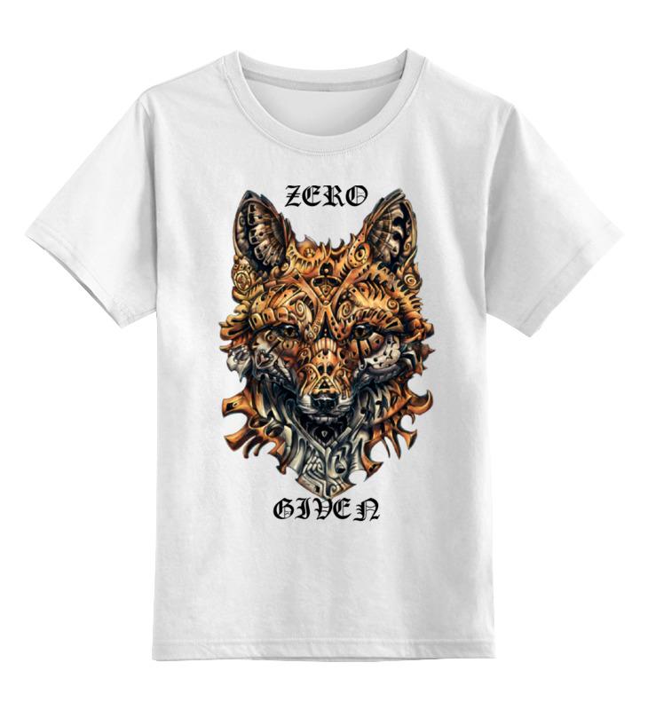 Купить 0000000755431, Детская футболка Printio Zero fox given цв.белый р.128,