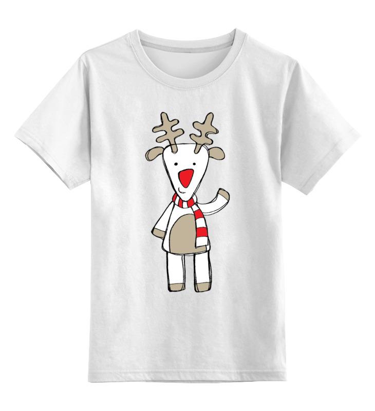 Детская футболка Printio Новогодняя фуфайка цв.белый р.128 0000000751608 по цене 790