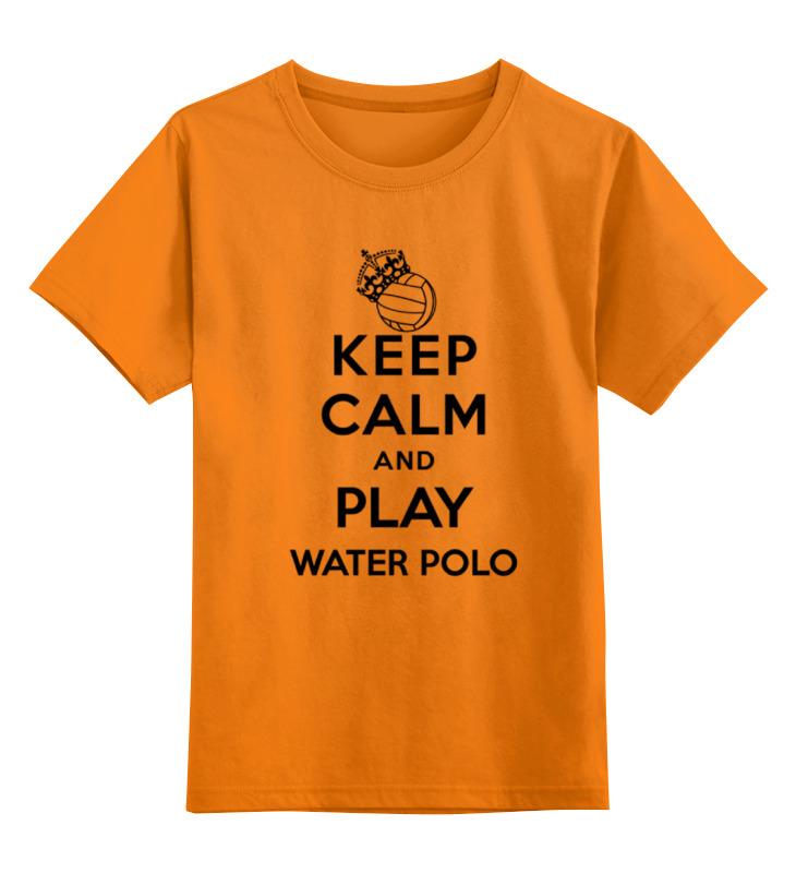 Купить 0000000751048, Детская футболка Printio Без названия цв.оранжевый р.128,