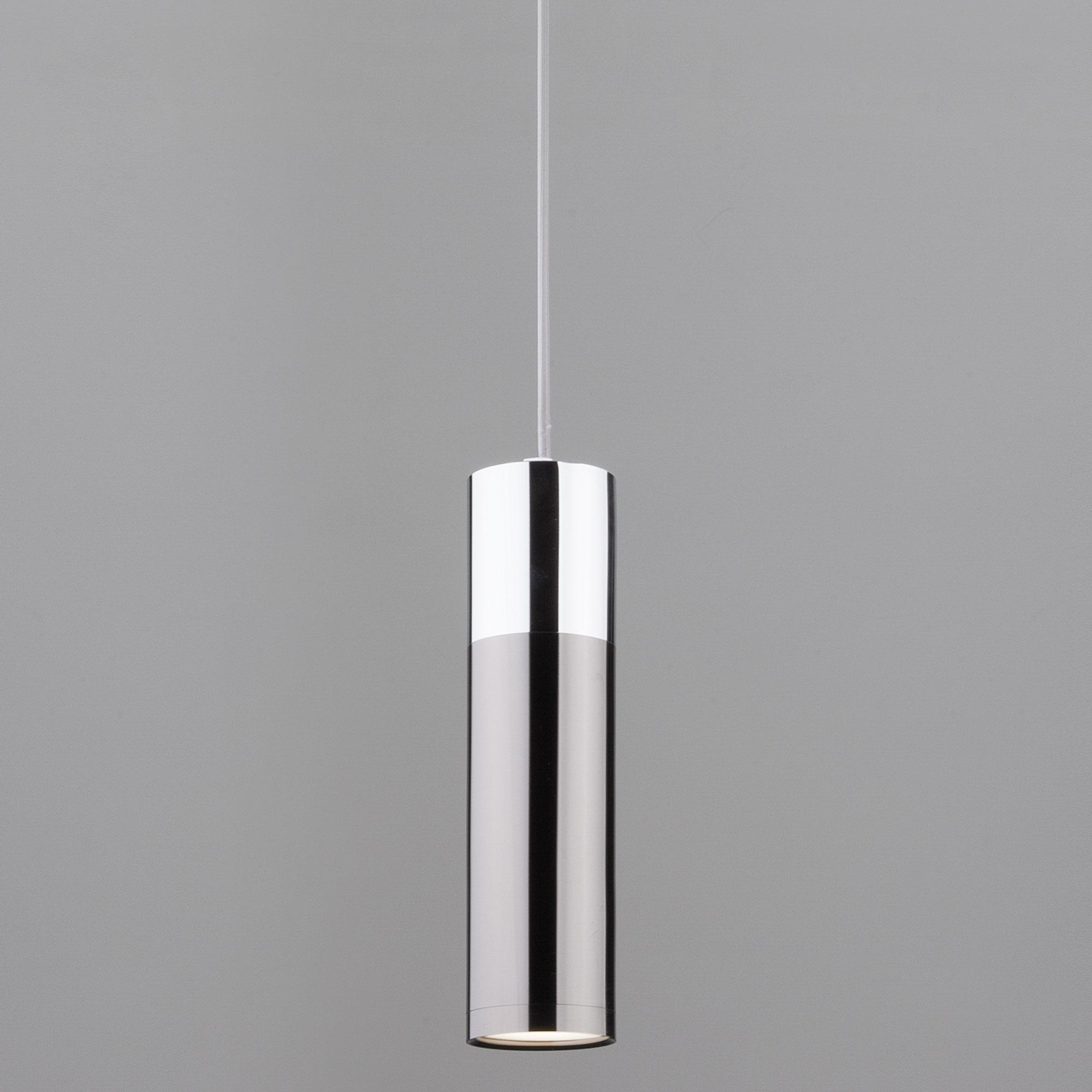 Подвесной светильник Eurosvet Double Topper 50135/1 LED хром/черный жемчуг фото