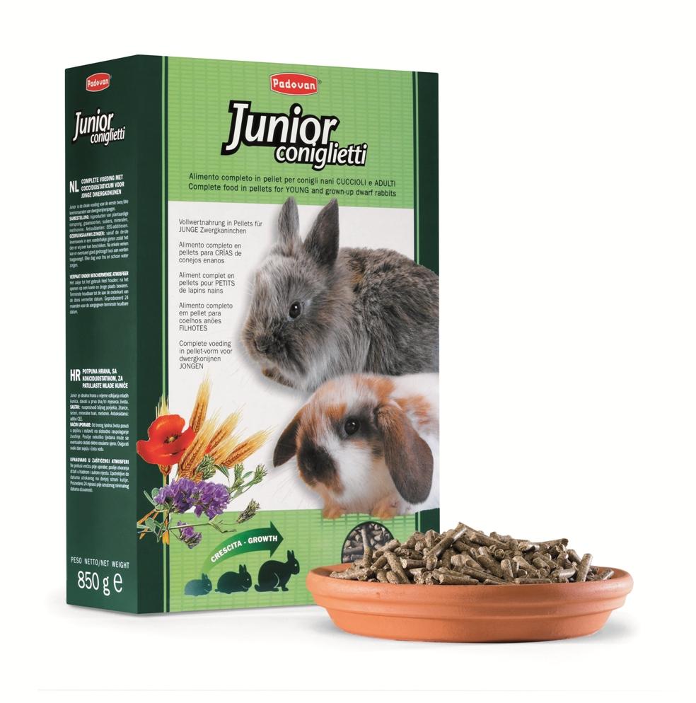 Корм для молодых кроликов Padovan Junior Conglietti, 0,85 кг фото