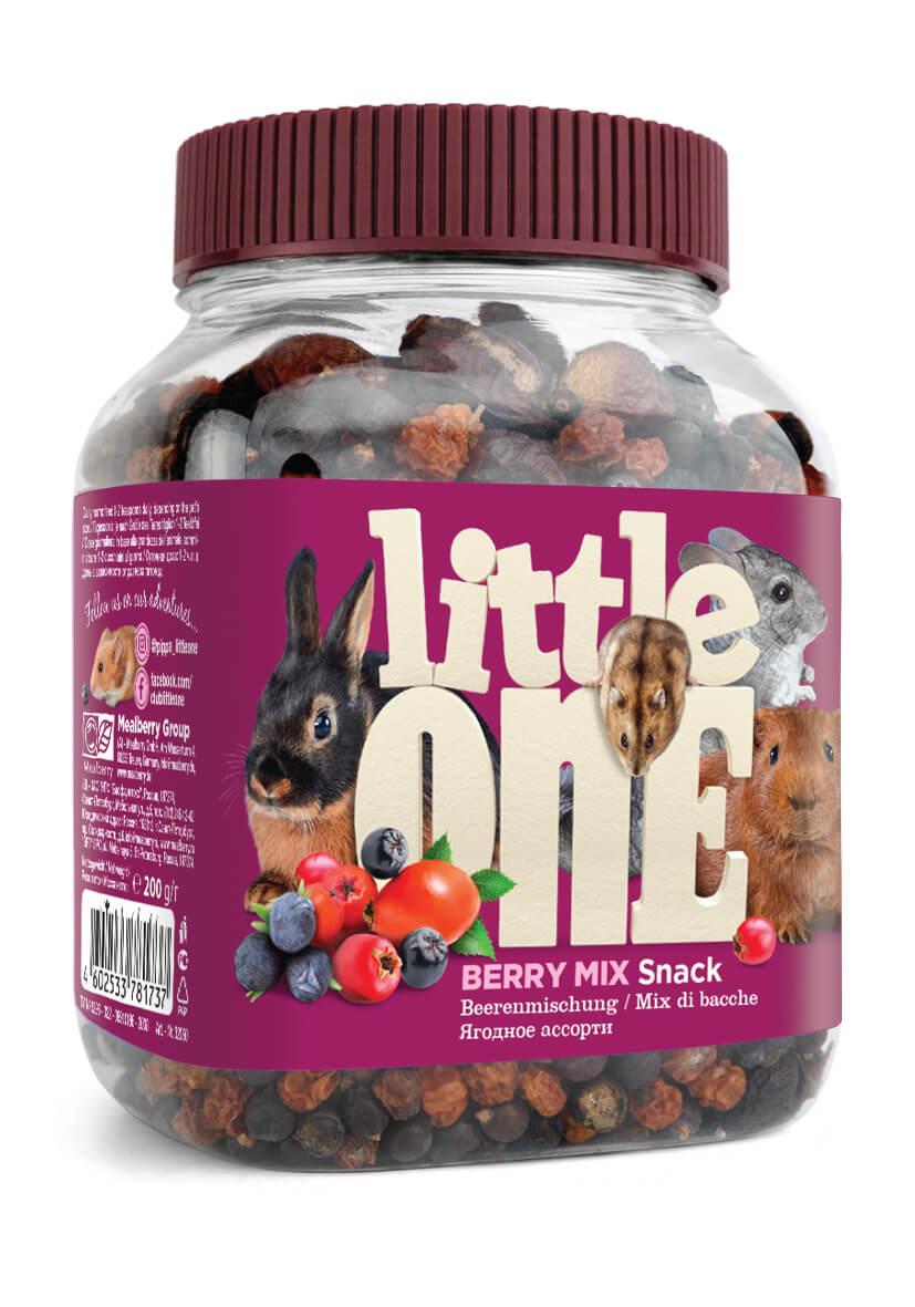 Лакомство для грызунов Little One Snack Berry Mix Ягодное ассорти, 200г фото