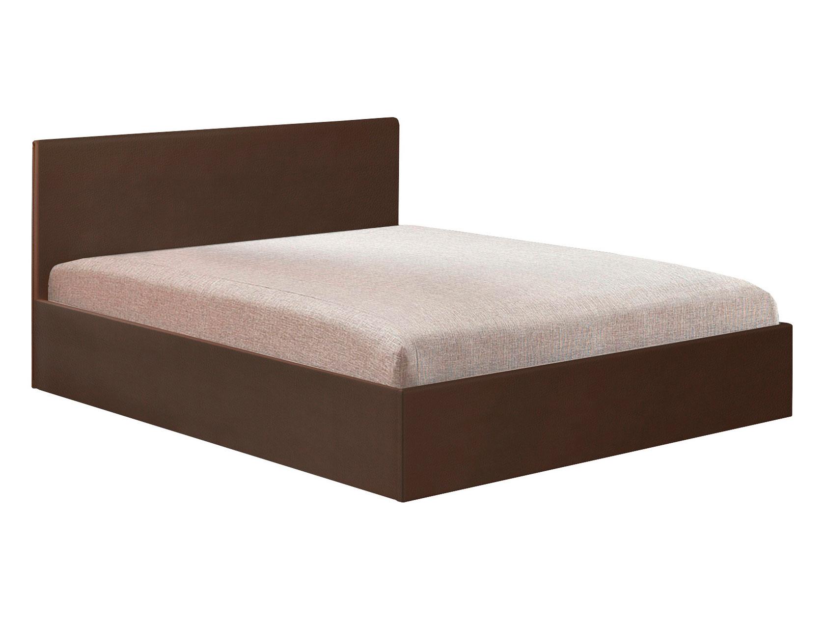 Двуспальная кровать СОФТ Boom Espresso иск.кожа/Ambrossia, 1500х2000