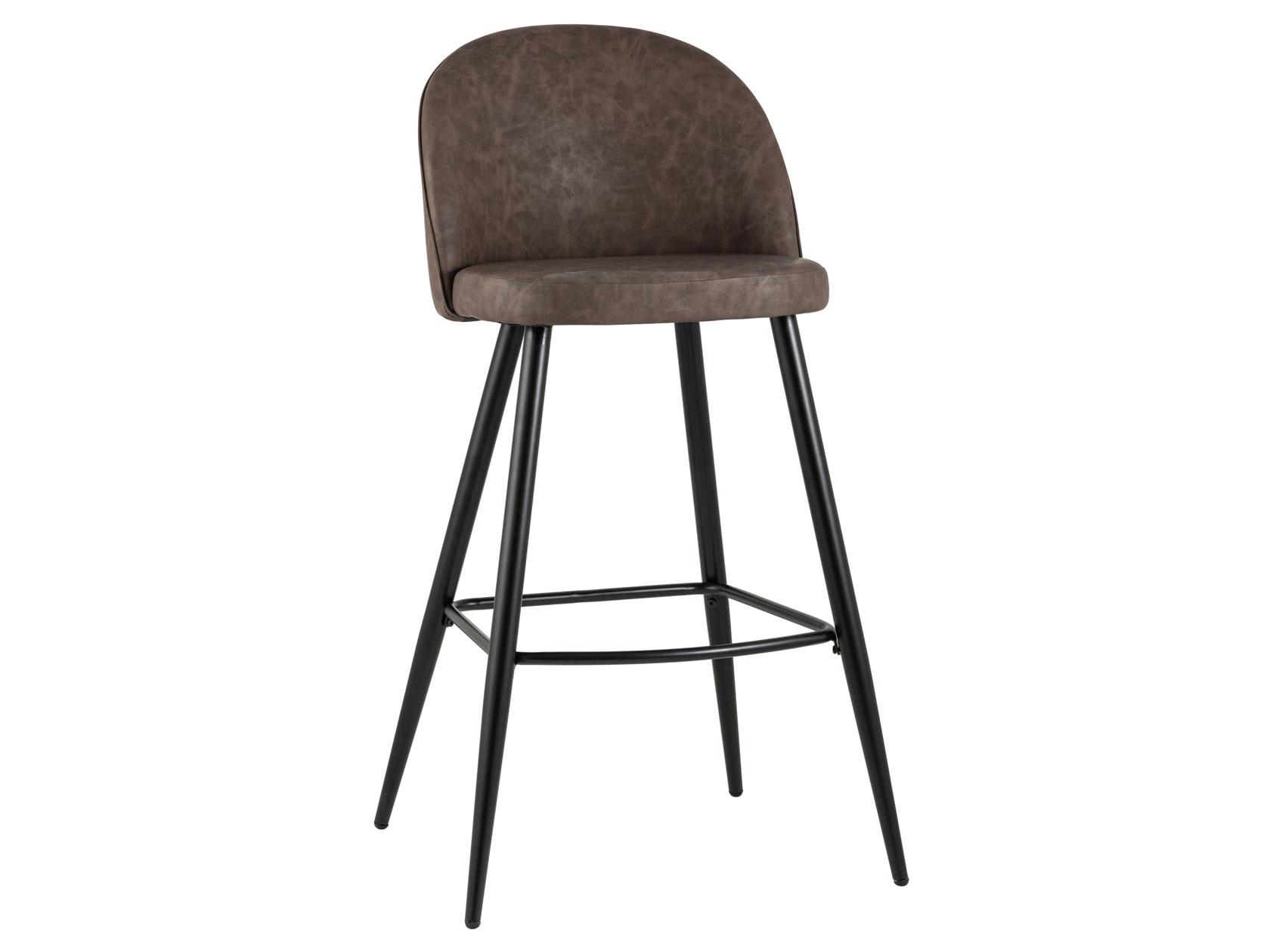 Барный стул Лион BC 99004 Коричневый, экокожа/Черный