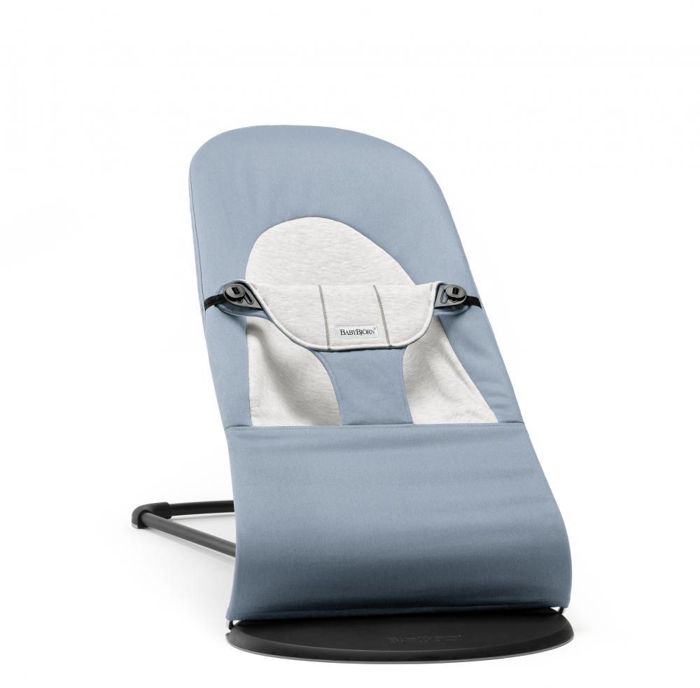 Кресло шезлонг BabyBjorn Balance Cotton Jersey голубой