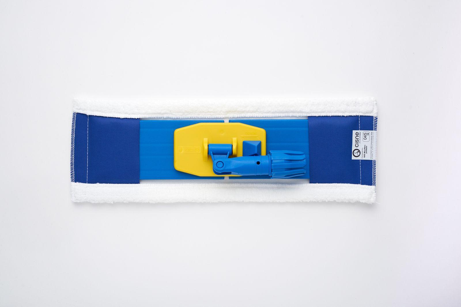 Насадка для швабры плоская микрофибра белый 45см комплект с держателем по цене 1 007