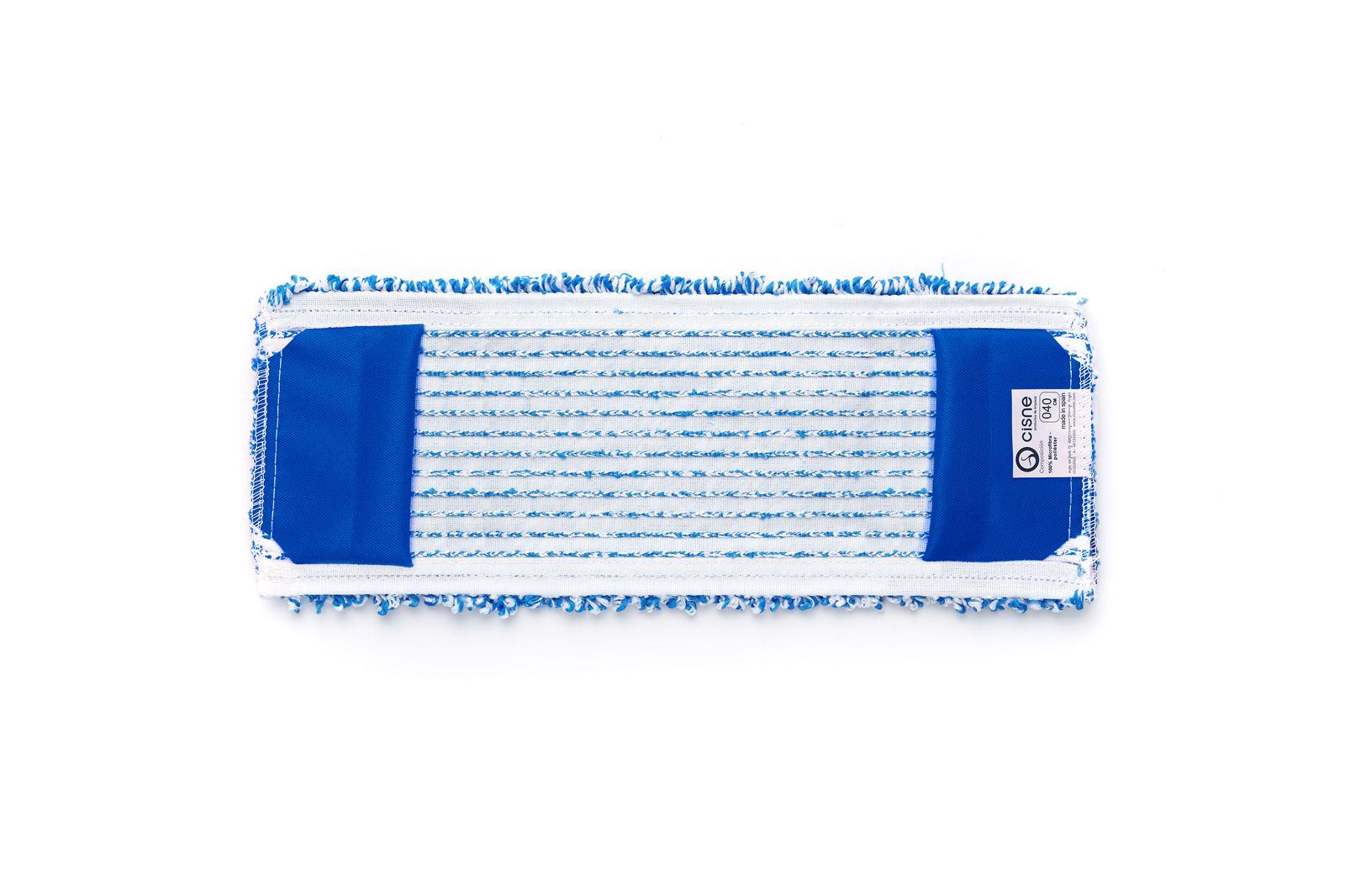 Насадка для швабры SWAN проф. плоская микрофибра синий/белый 40см SWAN по цене 663