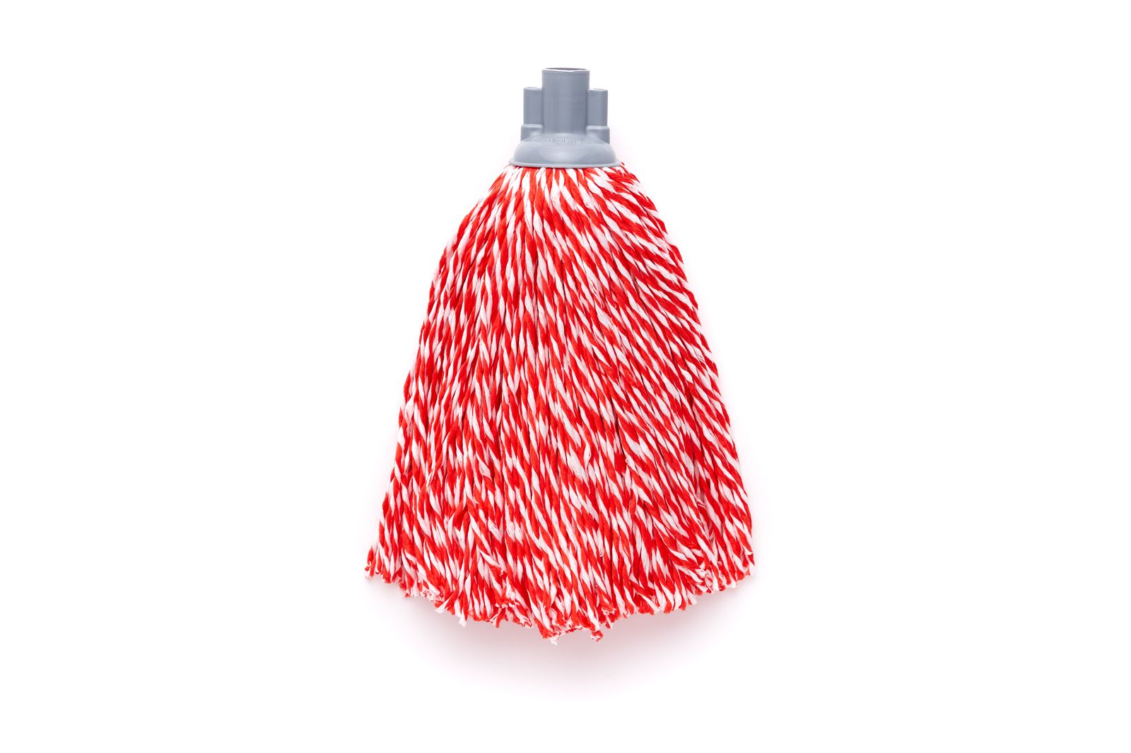 Насадка для швабры с резьбой верёвочная микрофибра красный/белый 150г по цене 358