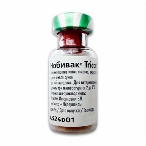 Нобивак Tricat Trio сухая вакцина с растворителем