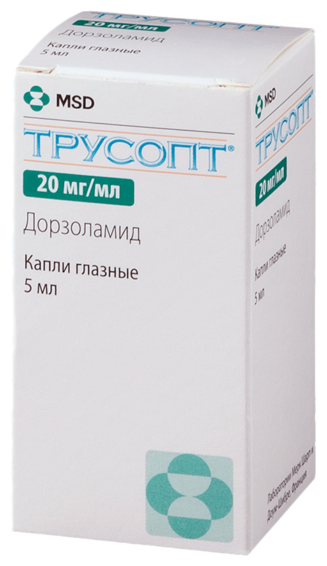 Трусопт капли глазн.20 мг/мл фл.5 мл
