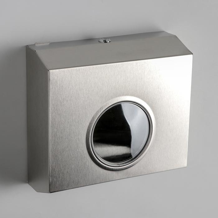 Диспенсер для бумажных полотенец, нержавеющая сталь, зеркальный