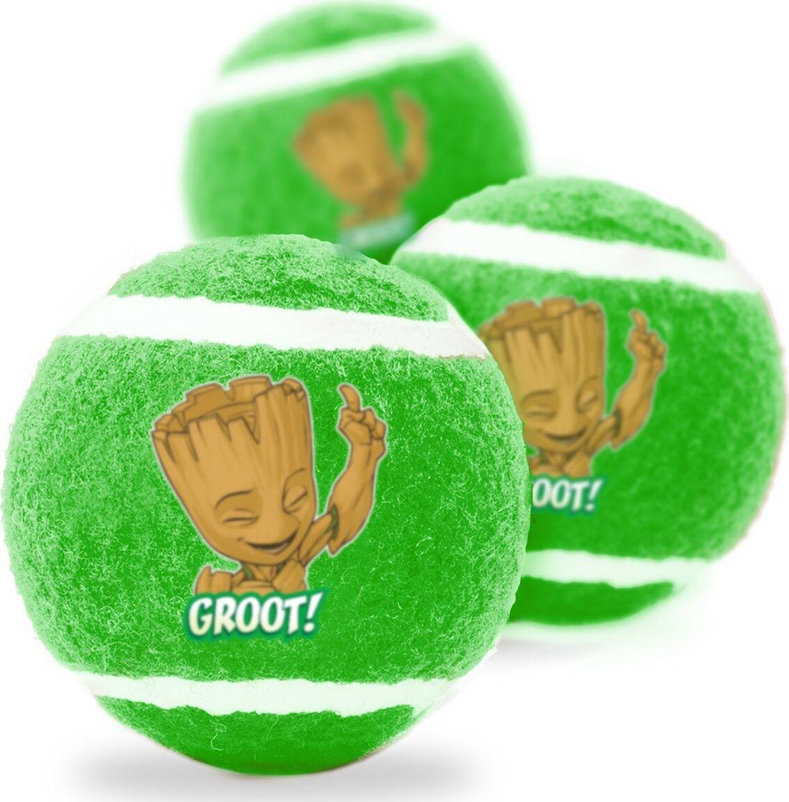 Апорт для собак Buckle-Down Теннисный мяч Грут, зеленый, 7 см, 3 шт фото