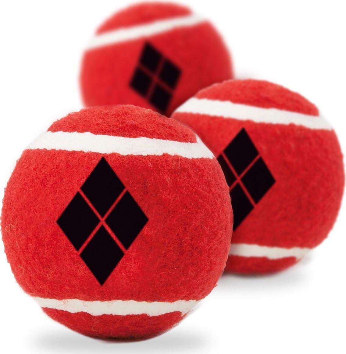 Апорт для собак Buckle-Down Теннисная Харли Квинн, красный, 7 см, 3 шт фото