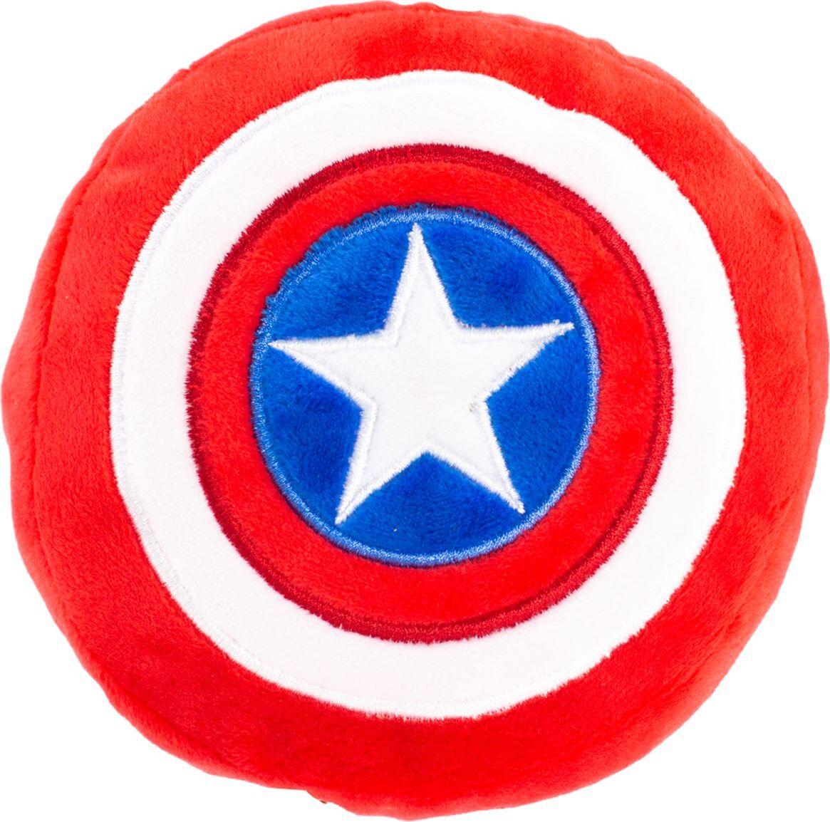 Игрушка-пищалка для собак Buckle-Down Капитан Америка, красный, 20 см фото