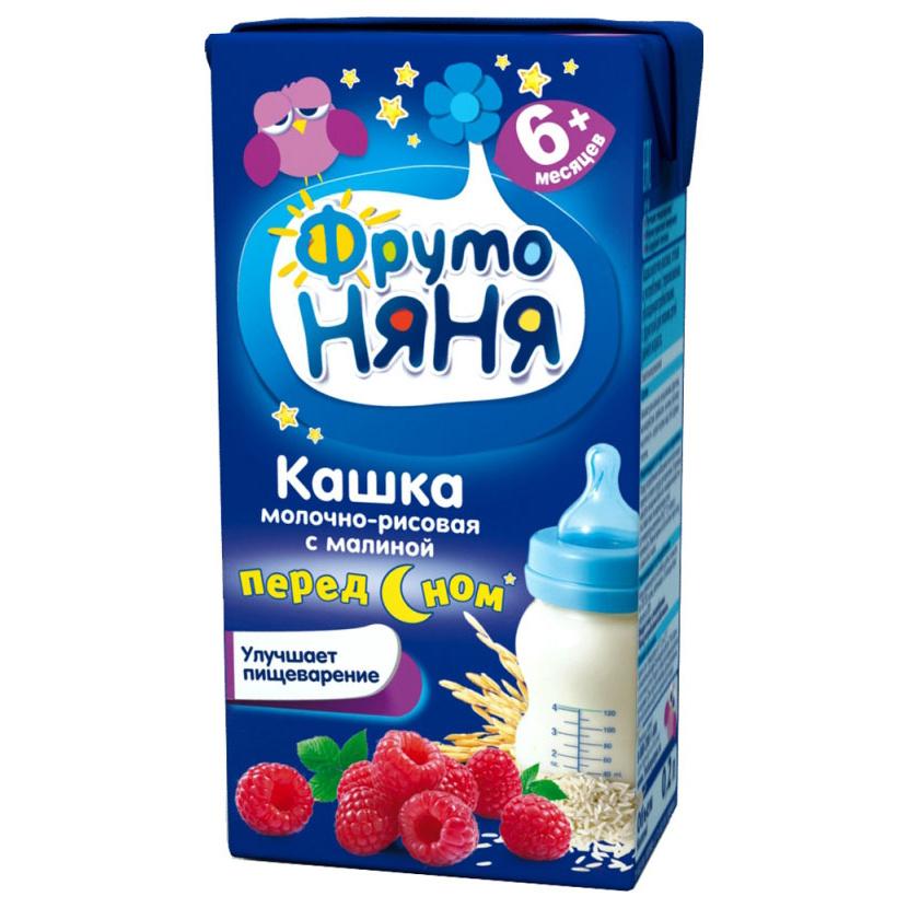 Каша молочная ФрутоНяня Рисовая с малиной
