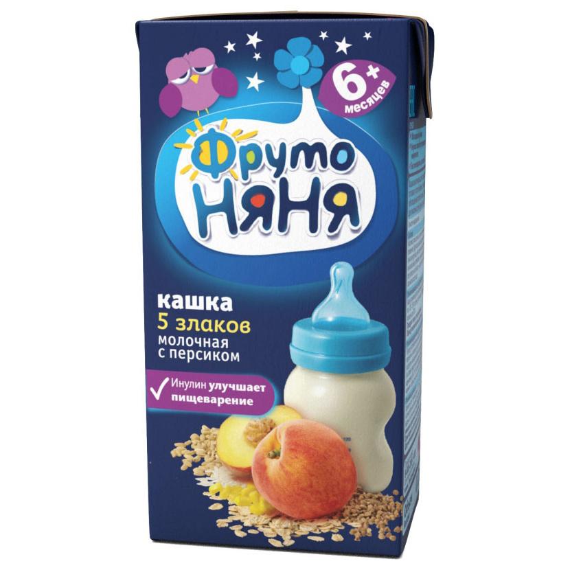 Каша молочная ФрутоНяня 5 злаков с персиком