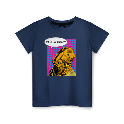 Купить Хлопок It's a Trap! - 2554961, Детская футболка ВсеМайки It's a Trap!, размер 128, VseMayki.ru,